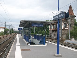 Gare de Krimmeri-Meinau - Image: Quai Krimmeri Meinau