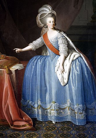 Giuseppe Troni - Image: Queen Maria I of Portugal (1734 1816) in an 18th century painting