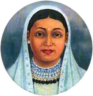 Thapa dynasty - Portrait of Queen Tripurasundari of Nepal