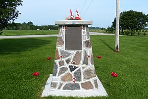 Ashfield–Colborne–Wawanosh - The memorial at Port Albert for Royal Air Force No. 31 Air Navigation School