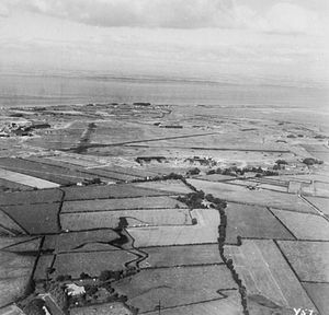 RAF Silloth - The airfield as camouflaged during World War II