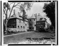 REAR OF HOUSE FROM GARDEN - Edwin H. Abbot House, 1 Follen Street, Cambridge, Middlesex County, MA HABS MASS,9-CAMB,39-5.tif