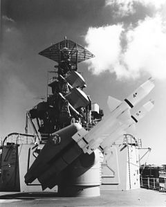 RIM-8 Talos on USS Little Rock (CLG-4) 1960 (KN-1120).jpg