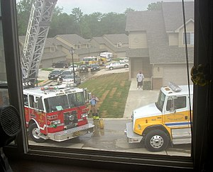 Boone County, Missouri - The BCFPD at a working structure fire.
