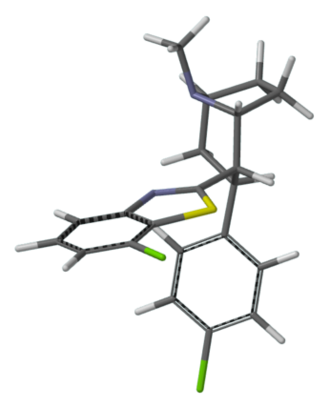 Dopamine reuptake inhibitor - 3D structure of RTI-470, a high-affinity and selective DAT ligand