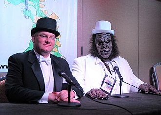 MonsterTalk - Founding co-hosts Benjamin Radford (left) and Blake Smith at Dragon Con 2012
