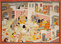 Rama and Krishna being received at the Court of the King Ugrasena at Mathura.jpg