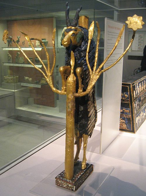 One of two figures of the Ram in a Thicket found in the Royal Cemetery in Ur, 2600-2400 BC Raminathicket2.jpg