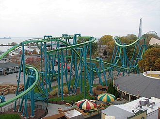 Raptor (Cedar Point) - View of Raptor from the Sky Ride