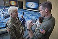 Rear Adm. Jeff Hughes speaks with Puerto Rico's National Guard director about joint operations. (37305044786).jpg
