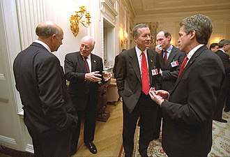 Steve Pearce (politician) - Pearce talks with Vice President Dick Cheney in 2002