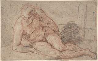 Reclining Nude Figure (recto); unidentifiable sketches (verso)