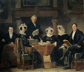 Regents and regentesses of the leper house in Amsterdam, 1835