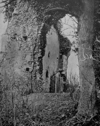Minsden Chapel - T.W. Latchmore's hoax photograph of the Minsden ghost (1907)