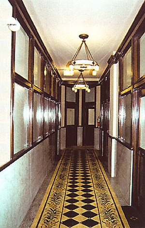 Reliance Building - A hallway of the Reliance Building following the 1999 restoration