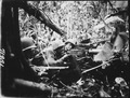 Retreating at first into the jungle of Cape Gloucester, Japanese soldiers finally gathered strength and... - NARA - 532522.tif