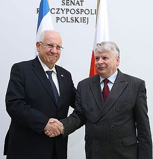 Reuven Rivlin - Reuven Rivlin with Bogdan Borusewicz during his official visit to Poland (2014)