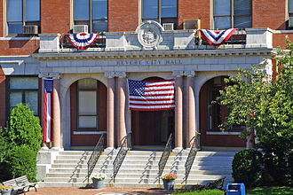 Revere, Massachusetts - Revere City Hall honoring the country days after September 11