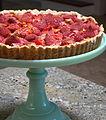 Rhubarbed Strawberry Daiquiri Vegan Tart Plated (4924998397).jpg