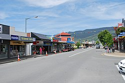 The main street of Richmond, New Zealand