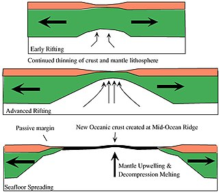 Passive margin The transition between oceanic and continental lithosphere that is not an active plate margin