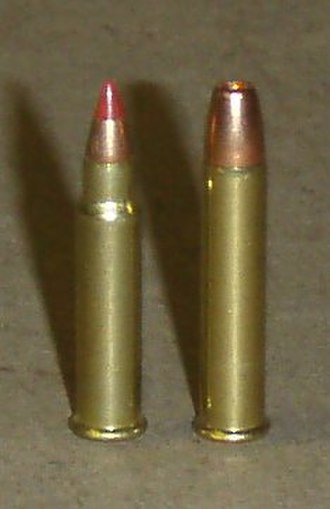 .17 HMR - Left: 17 HMR,  Right: 22 WMR