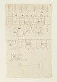 Ritningar och utkast till byggnad. Av Nils Bielkes hand, cirka 1700 - Skoklosters slott - 98151.tif