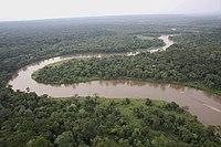 Lien vers la page de portail via une image d'une rivière dans le Nord-Kivu