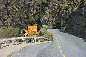 Road warnings on the Connor Pass - geograph.org.uk - 1575708.jpg