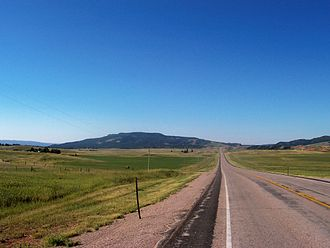 Newcastle, Wyoming - A roadside view in northern Weston County, looking South.