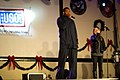 Robert Horry Minka Kelly on stage USO.jpg