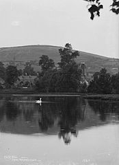 Rock Hill from the lake Clun