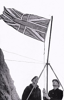 September 18: Britain annexes Rockall Rockall Union flag hoisted 1955.jpg