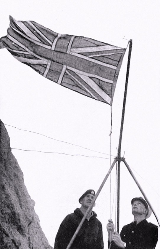 Rockall Union flag hoisted 1955