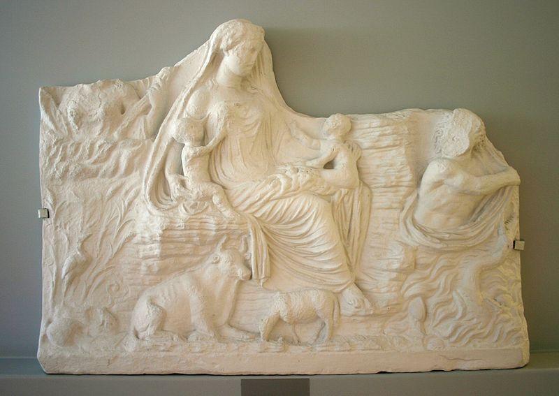 File:Roma - Museo dell'Ara Pacis - Calco rilievo Tellus - Foto Giovanni Dall'Orto, 30-Mar-2008.jpg