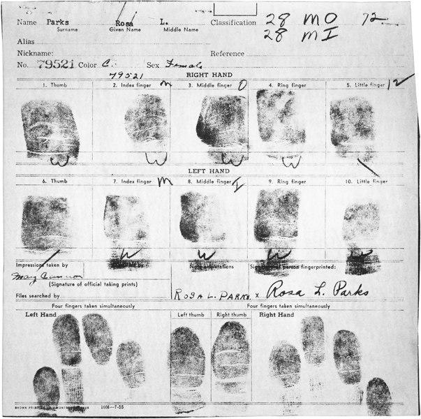 Rosaparks fingerprints