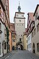 Rothenburg ob der Tauber, Stadtbefestigung, Weißer Turm, Feldseite-20121109-001.jpg