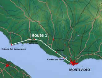Route 1 (Uruguay) - Image: Route 1 Uruguay