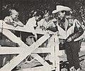 Roy Rogers teaching Guntur Sukarno to use a lasso, Presiden Soekarno di Amerika Serikat, p58.jpg