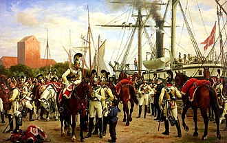 Royal Horse Guards (Denmark) - Image: Royal Danish Horse Guards 1848 (Otto Bache)