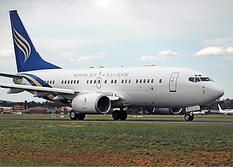 Royal Jet - Boeing Business Jet (Boeing 737-700/BBJ) at Canberra Airport (2006).