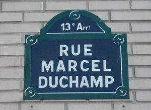 street sign Rue Marcel Duchamp