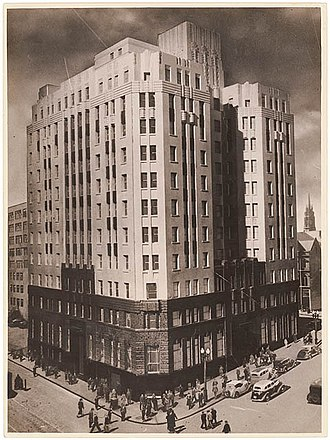 State Bank of New South Wales - Image: Rural Bank, Martin Place, Sydney, c. 1930s, by Sam Hood (4107912398)