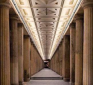 Arcade in front of Alte Nationalgalerie in Berlin, Germany