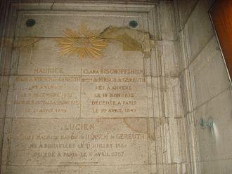 Maurice de Hirsch - The family's monument