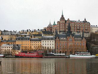 Södermalm - 18th century housing facing Riddarfjärden