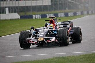 Toro Rosso STR3 - Bourdais driving the STR3 at the 2008 Canadian Grand Prix.
