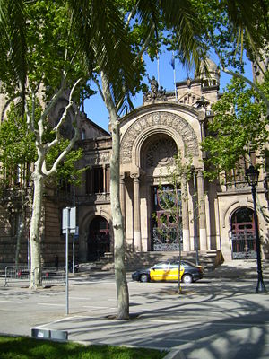 Enric Sagnier - The Palau de Justícia (law courts), one of Sagnier's early works.