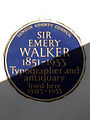 SIR EMERY WALKER 1851-1933 Typographer and antiquary lived here 1903-1933.jpg