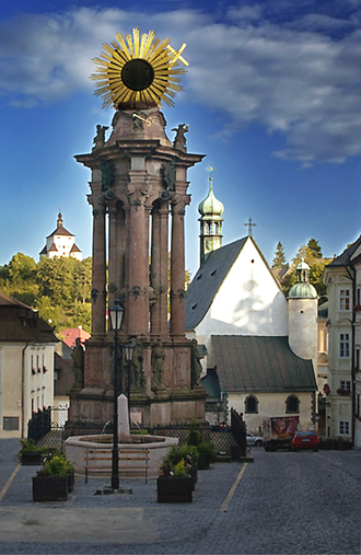 Banská Štiavnica - The Trinity Square (Námestie Svätej Trojice)